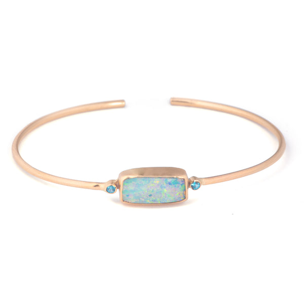 Crystal Pipe Opal Cuff