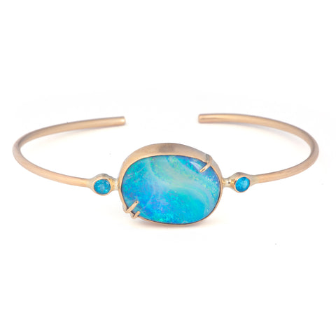 Starry Night Opal Cuff
