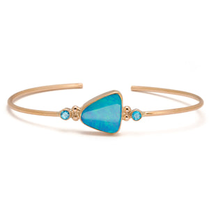 Load image into Gallery viewer, Lagoon Opal Cuff