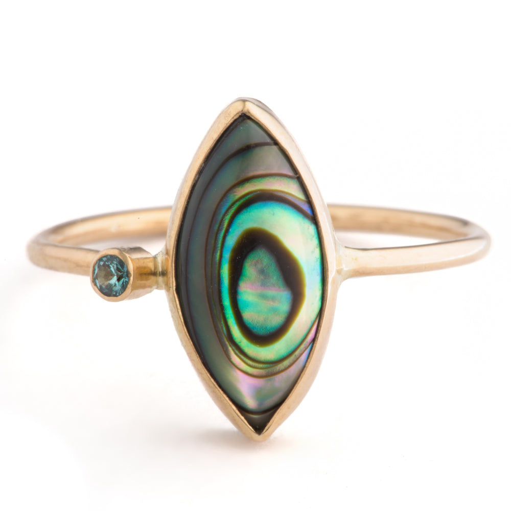 Load image into Gallery viewer, Paua Ring