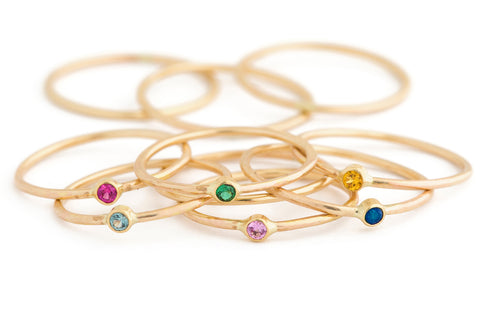 Minnow Gemstone Stacking Rings