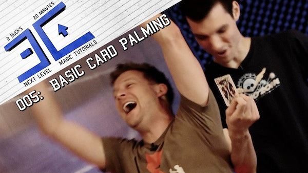 magician brian brushwood magic tutorial basic card palming