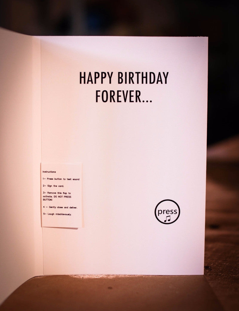 The Infinite Birthday Card