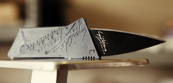 thin credit card knife - thin knife allows you to be prepared anywhere at any time