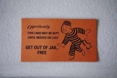 Get out of jail free card helps you get out of speeding tickets