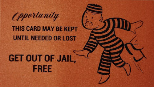 Monopoly get out of jail free card