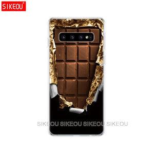 For Samsung Galaxy S10 Case S10Plus Case Silicone TPU Cover Phone S10 E Case On For Samsung S10 Plus S 10 bags bumper vintage