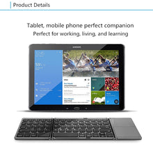 Load image into Gallery viewer, Three system universal Triple foldingfold with touchpad tablet mobile phone computer wireless Bluetooth folding mini keyboard