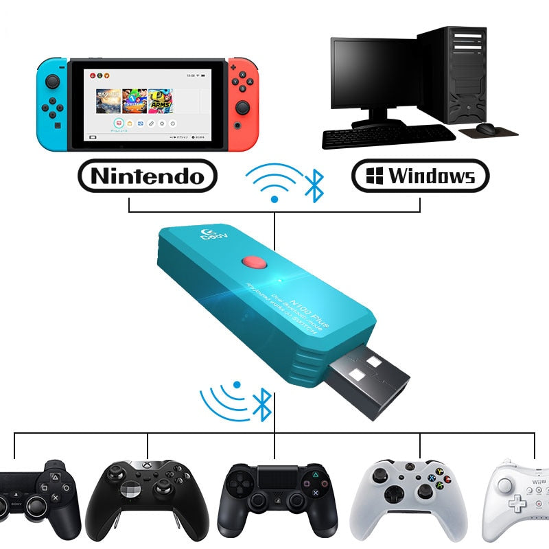 Coov N100 PLUS for PS4/Xbox One wireless controller Converter Adapter to Nintendo Switch NS Wired GamePad Joystick Converter
