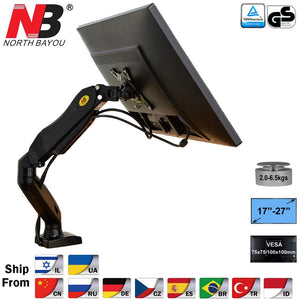 "NB F80 Desktop17-27"" LCD LED Monitor Holder Arm Gas Spring Full Motion Gas Strut Flexi TV Mount Loading 2-6.5kgs"