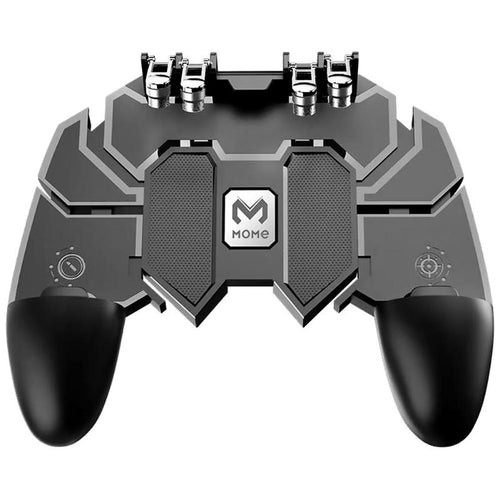 AK66 Plastic Game Gamepad Six Fingers Trigger Shooting Controller Artifact Joystick Flexible Clip-on For PUBG Mobile Game Black