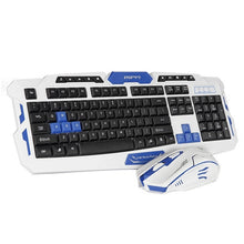 Load image into Gallery viewer, 2.4GHz Wireless Keyboard Gaming Keyboard Mouse Combo 19 Keys Anti-ghosting Adjustable DPI Mouse USB Receiver Adapter Mouse Mat