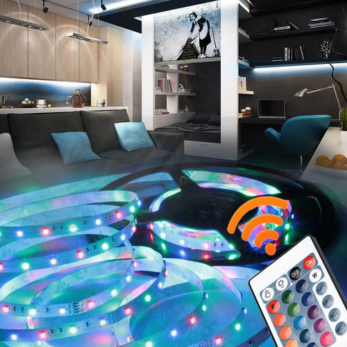 50-200CM USB LED Strip Light TV Back Lamp 2835RGB Colour Changing+Remote Control