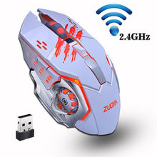 Load image into Gallery viewer, ZUOYA 2.4GHz Silent Gaming Wireless Mouse Adjustable2000DPI Rechargeable Backlight Mice USB LED Optical Game Mouse For PC Laptop