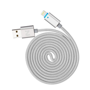 NOHON 150cm LED SMART USB cable For iPhone X 8 5S  6 Plus 6S ipad 4 mini Air IOS 6 7 8 9 10 11 Aluminum alloy data charger cable