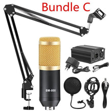 Load image into Gallery viewer, bm 800 Professional Adjustable Condenser Microphone Kits Karaoke Microphone Bundle Microphone for Computer Studio Recording