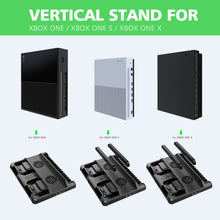 Load image into Gallery viewer, OIVO Dual Controller Charge Station For Xbox ONE S X Games Charging Dock Cooling Vertical Stand Charger for Xbox ONE/S/X Console