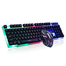 Load image into Gallery viewer, Gaming keyboard Colorful LED Illuminated Backlit USB Wired PC Rainbow Anti-skid and waterproof design Gaming Keyboard Mouse Set