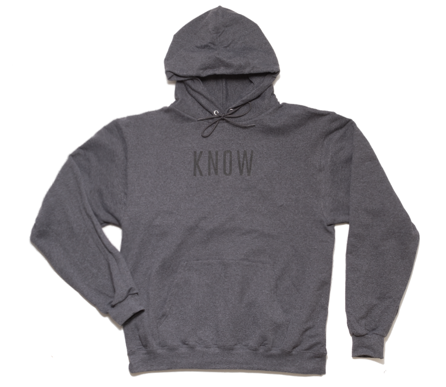 Know Hoodie - Charcoal