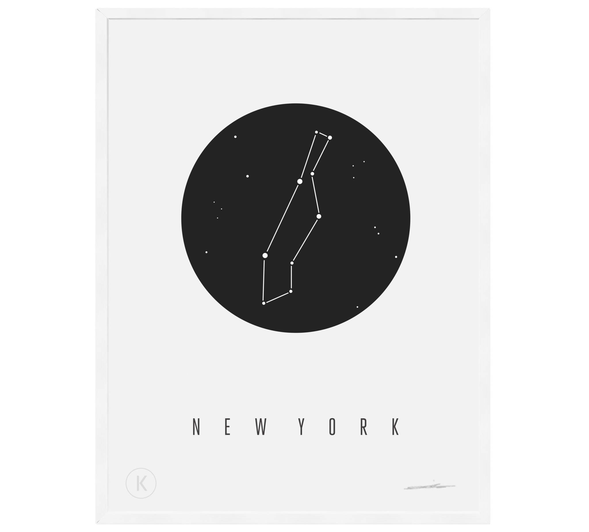 NY Constellation Print