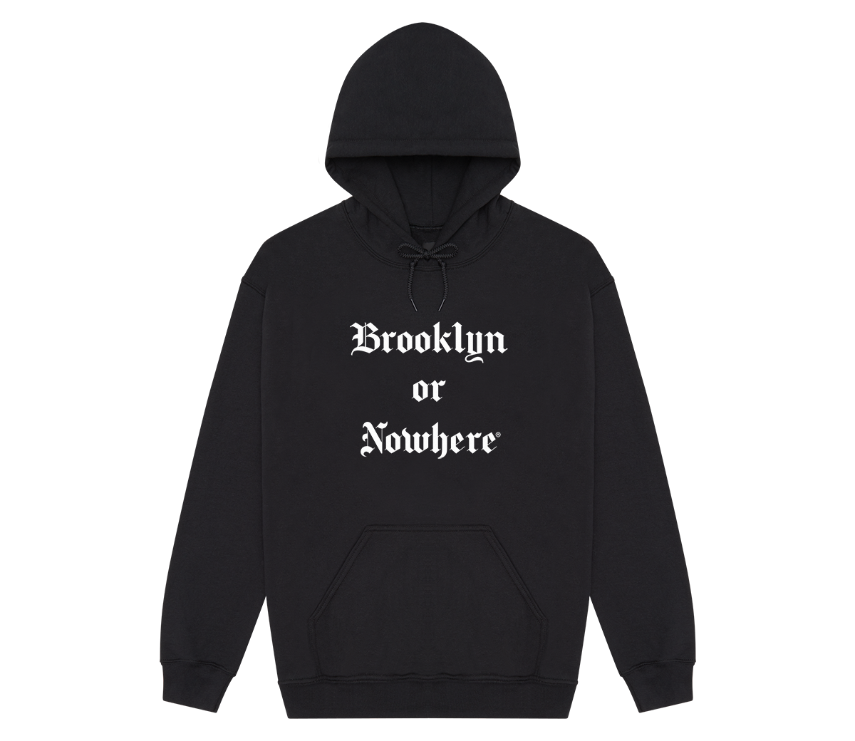 "Brooklyn or Nowhere® ""Times"" Hoodie (Black/White)"