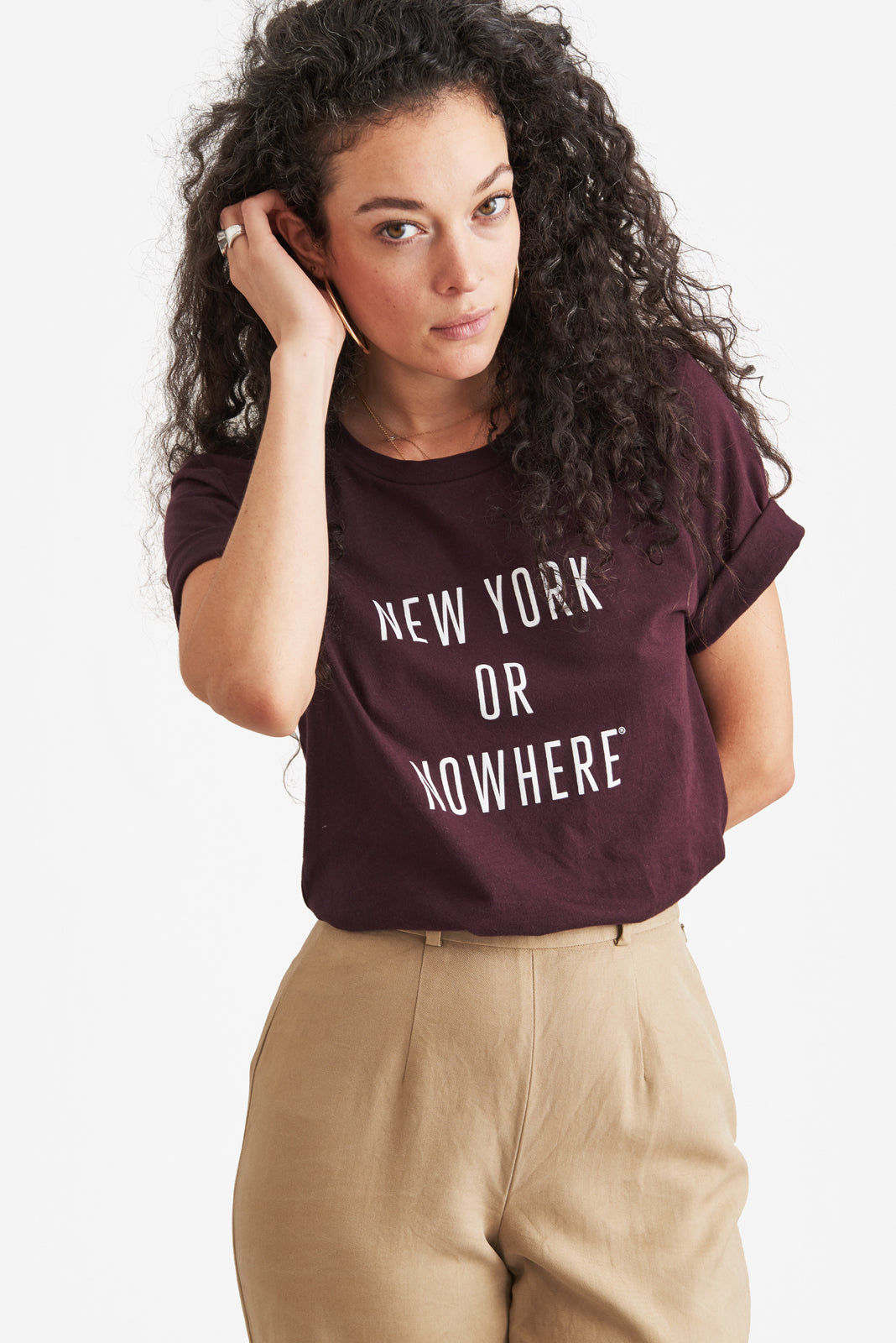 New York or Nowhere® Tee (Oxblood)