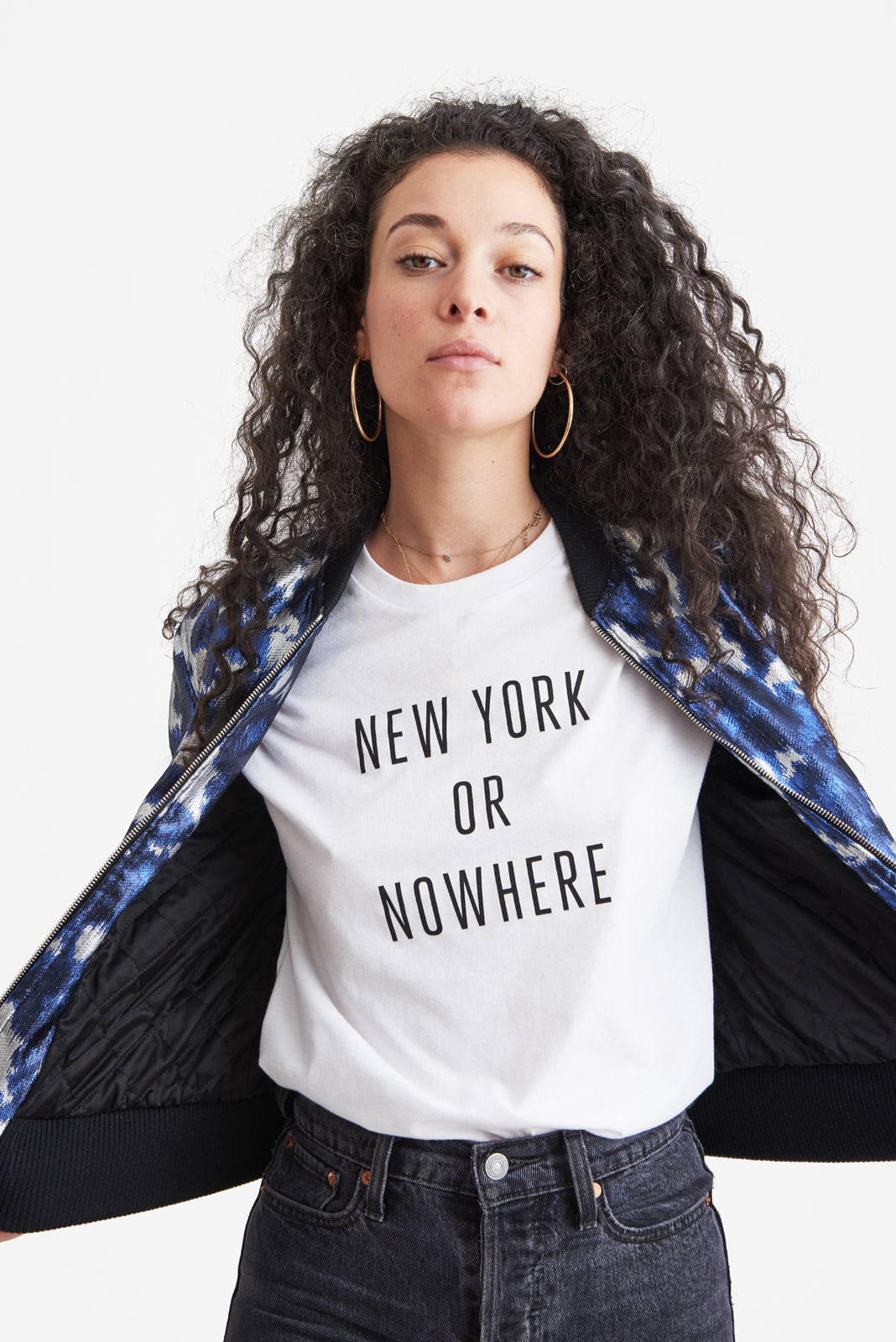 New York or Nowhere® Tee (White/Black)