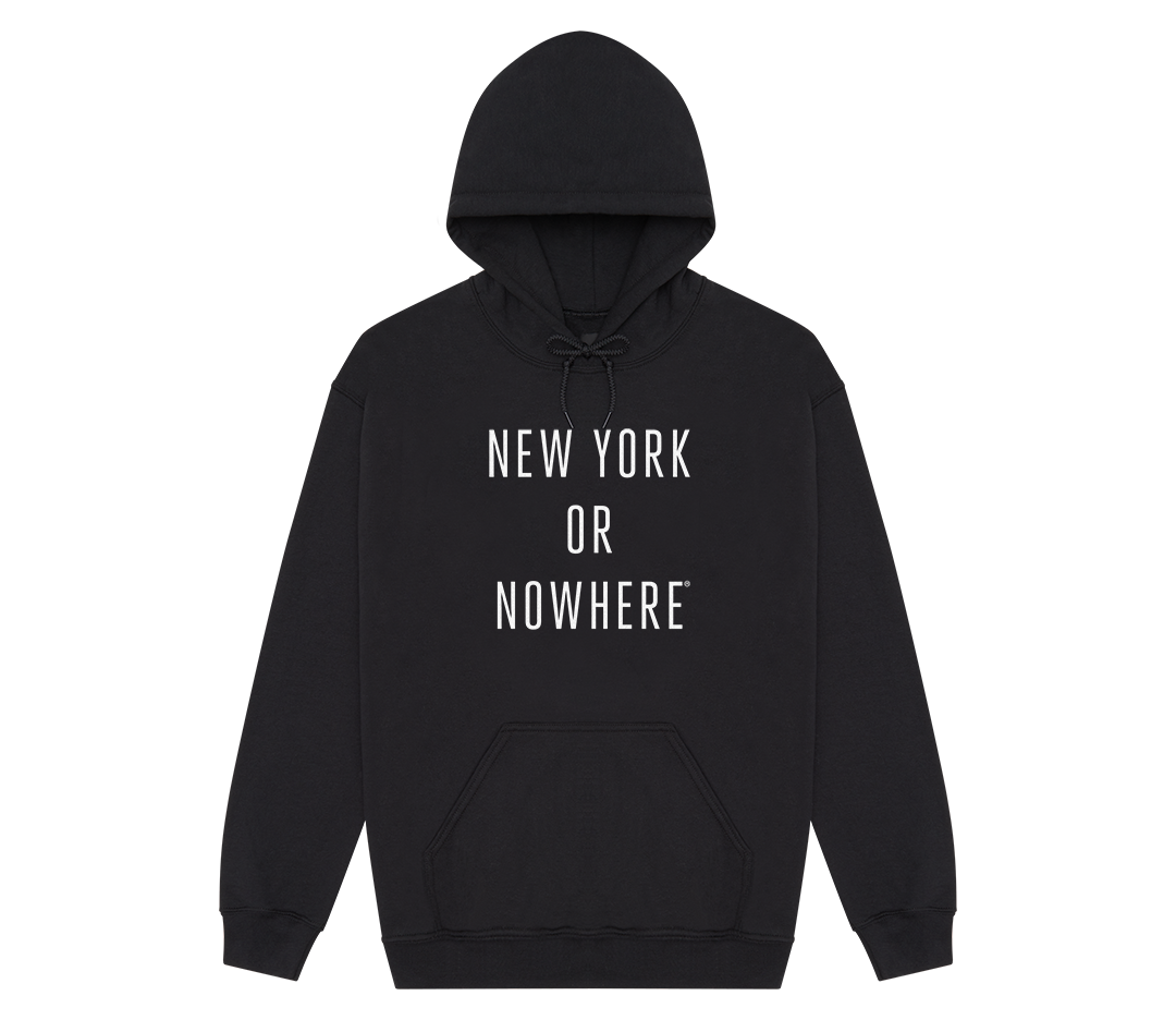 New York or Nowhere® Hoodie (Black/White)