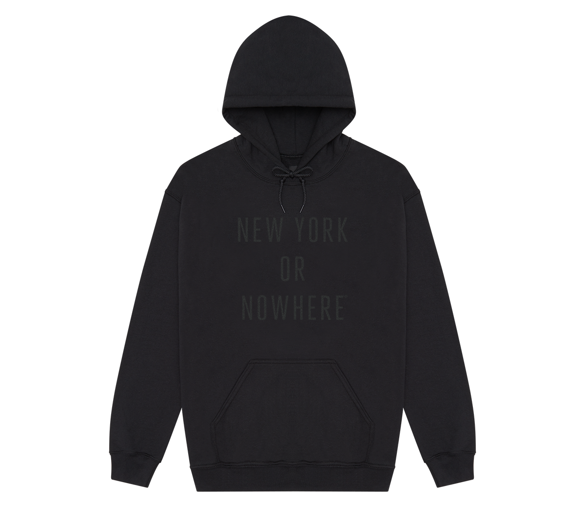 New York or Nowhere® Hoodie (Black/Black)