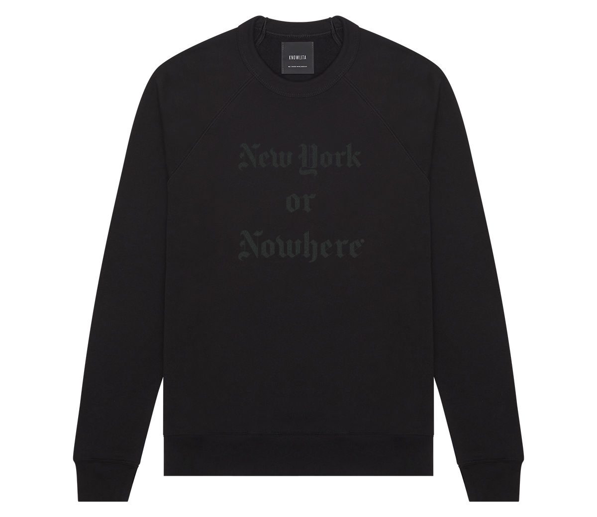 "New York or Nowhere® ""Times"" Crew (Black/Black)"