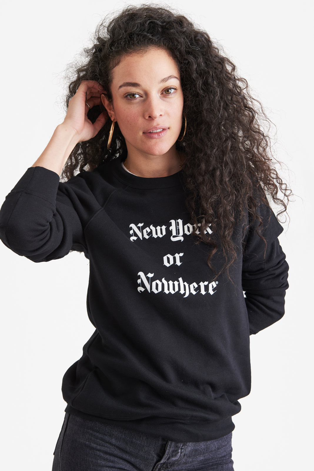"New York or Nowhere® ""Gotham"" Crew (Black/White)"