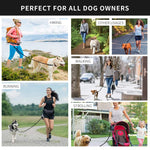 Hands Free Dog Leash For Running Walking Jogging Training Hiking Retractable Bungee Dog Waist Leash For Large Dogs