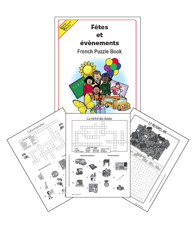 French Holiday Puzzle Book