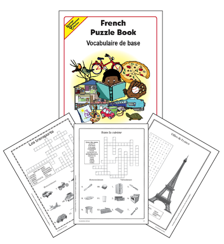French Word Puzzle Book