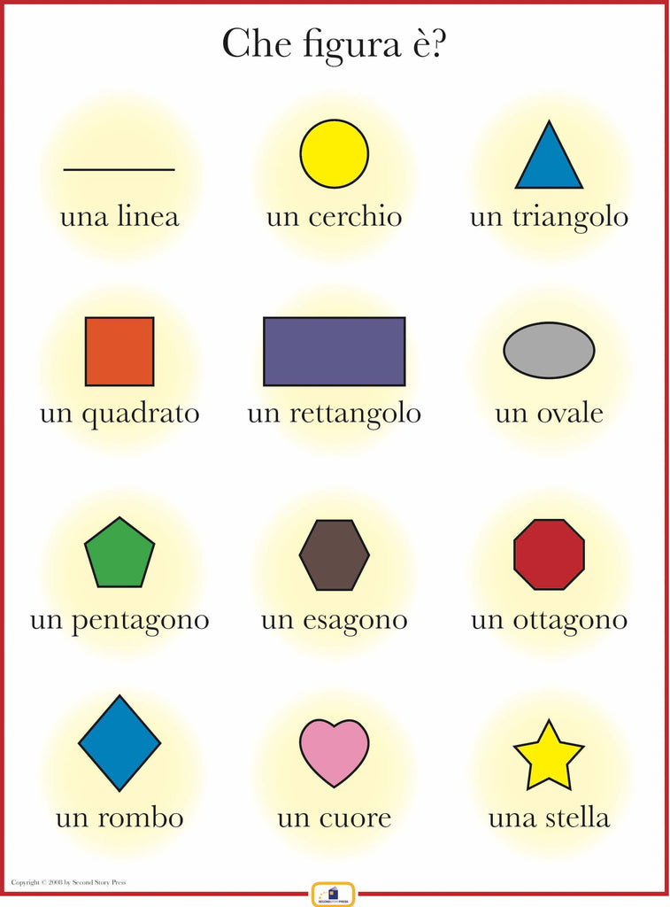 Italian Shapes Poster