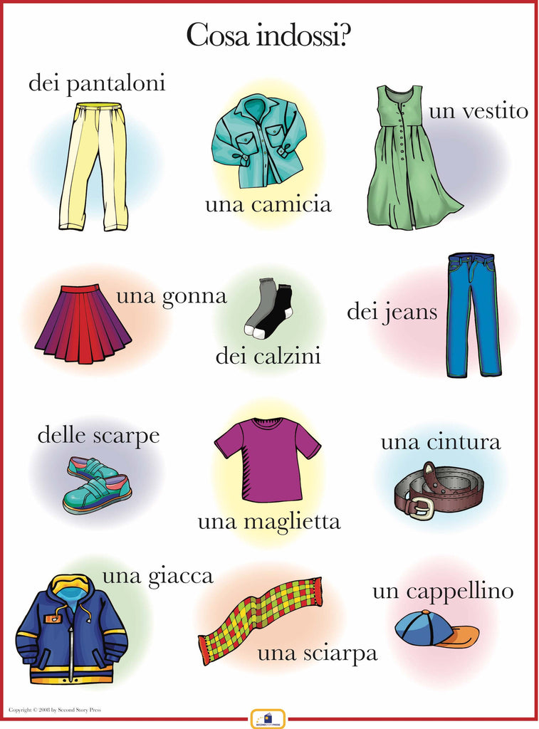 Italian Clothing Poster