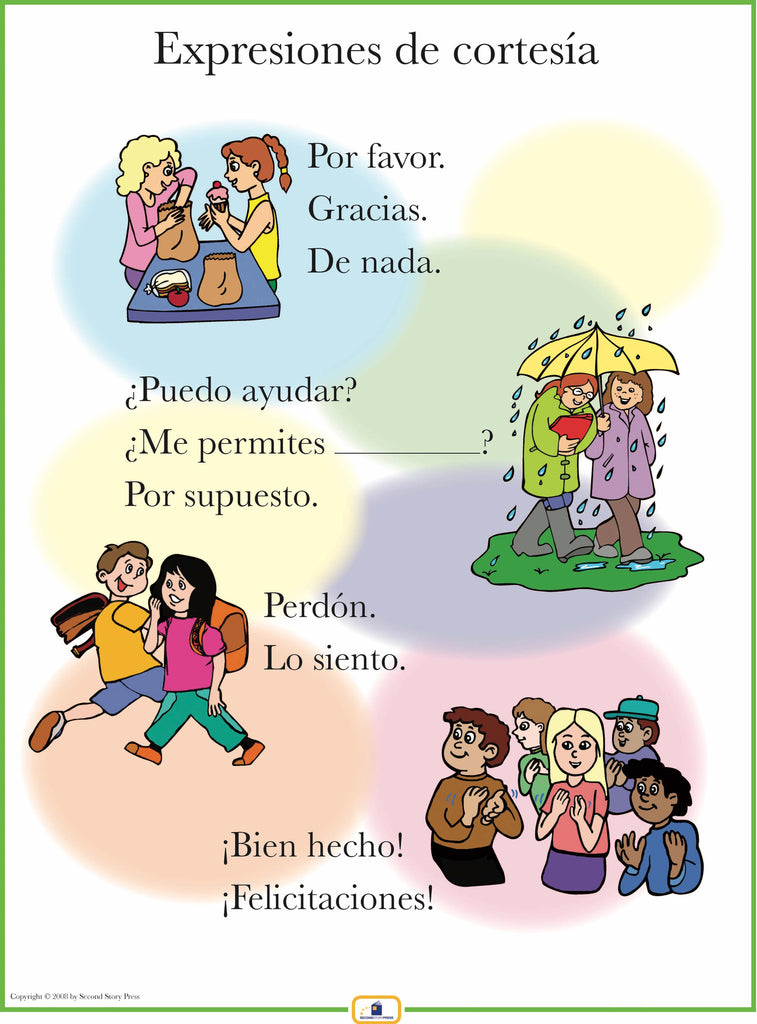 Spanish set of 4 posters with everyday phrases italian french and spanish set of 4 posters with everyday phrases m4hsunfo