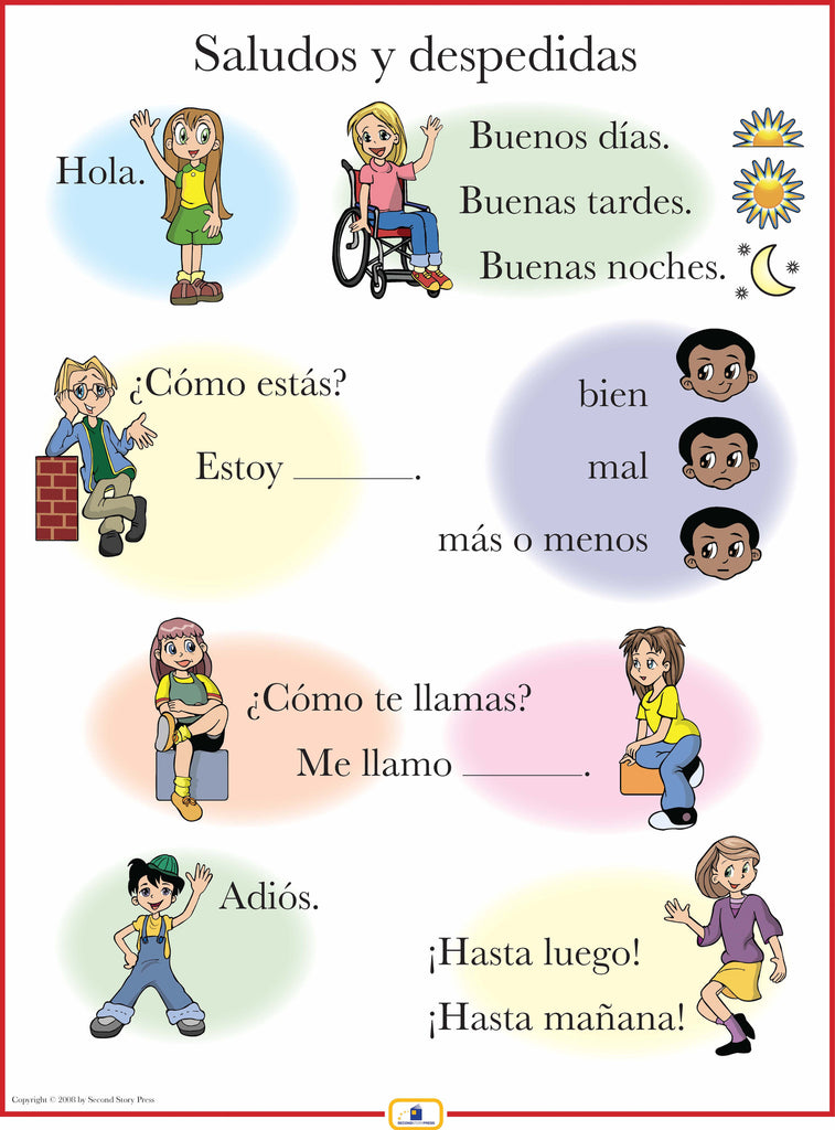 Spanish greetings poster italian french and spanish language spanish greetings poster m4hsunfo