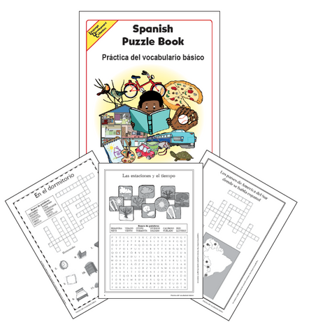 Spanish Word Puzzle Book