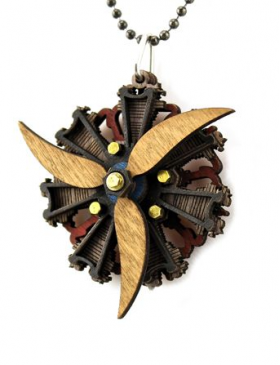 Radial Tri Propeller Engine Pendant