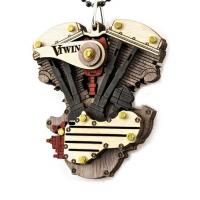 V Twin Motorcycle Engine Pendant