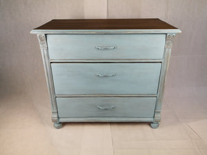 Vintage Kommode restyle in french blue