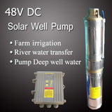48VDC high efficiency solar well pumps and DC controller