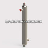High Pressure AHE-85K BTU TITANIUM Shell & Tube Heat Exchanger