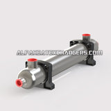 High Pressure AHE-2400K BTU TITANIUM Shell & Tube Heat Exchanger