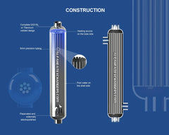 High Pressure AHE-55K BTU TITANIUM Shell & Tube Heat Exchanger