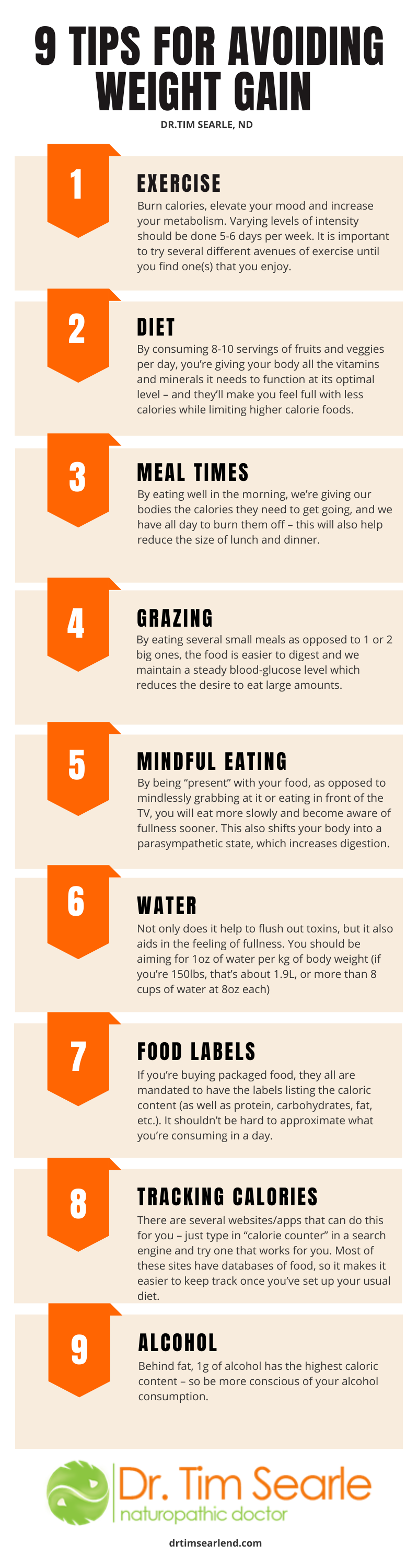 9 tips to avoid weight gain
