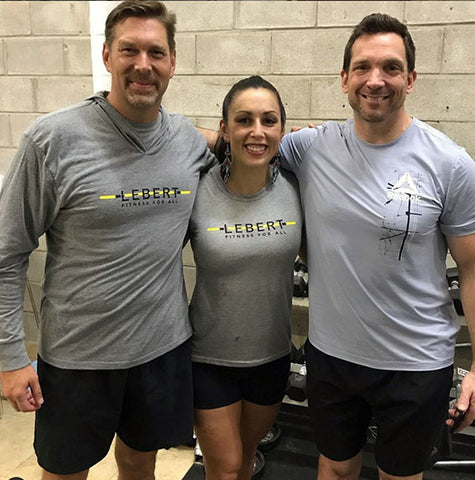Jesse with David Faassen and Marc Lebert of Lebert Fitness
