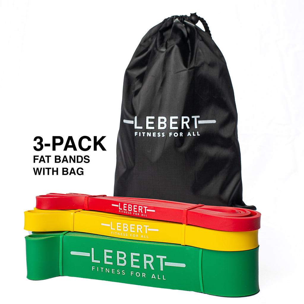 Lebert Functional Assisted Training (F.A.T) Bands 3-Pack with Bag