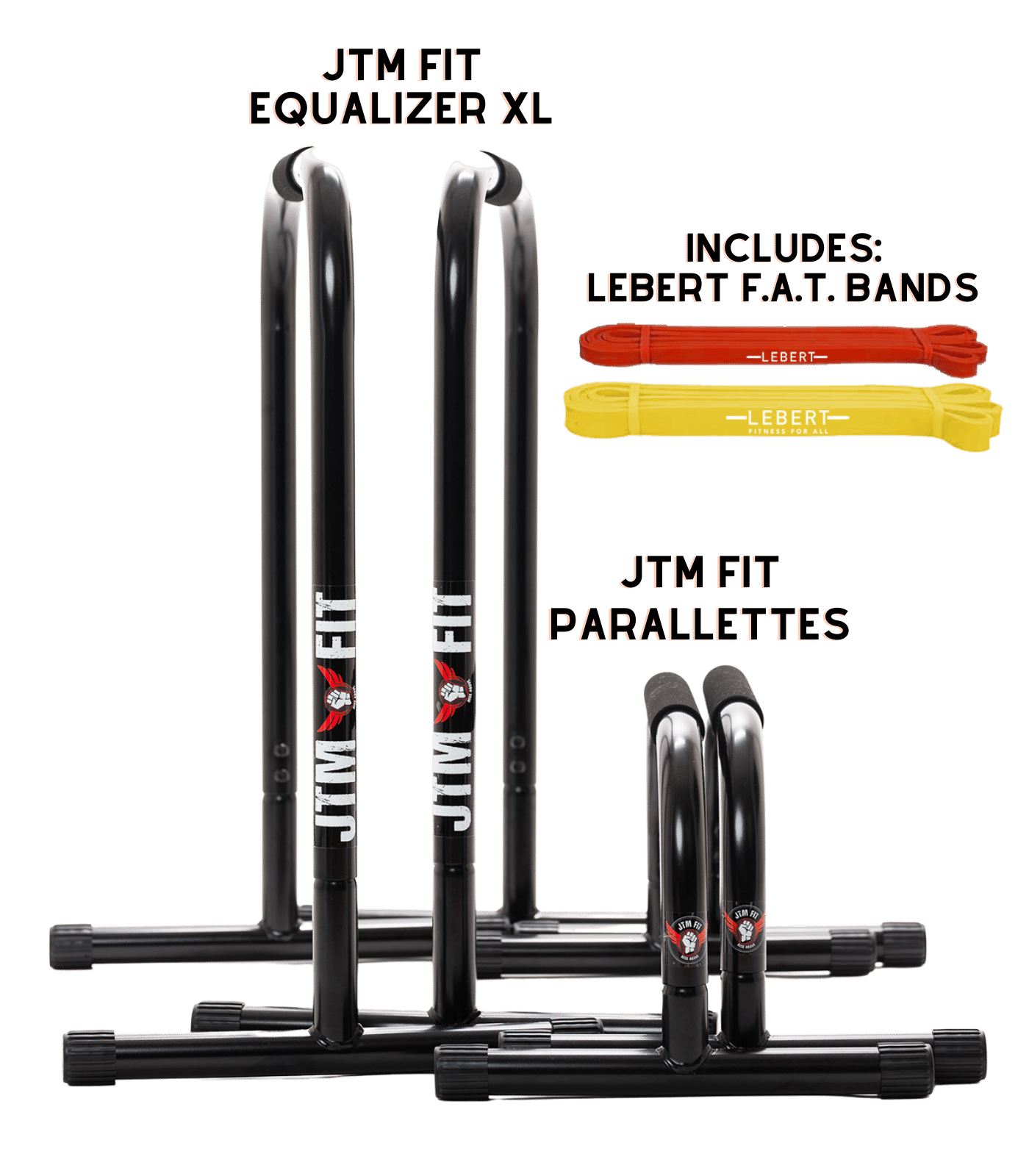 INTRODUCING THE JTM FIT LIMITED EDITION  BLACK EQ XL & PARALLETTES!